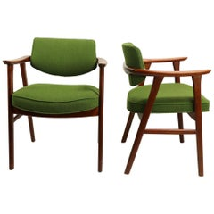 Pair of Danish Modern Armchairs Attributed to Jalk