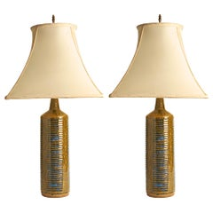 Pair of Danish Modern Ceramic Lamps by Per Linnemann-Schimdt for Palchus