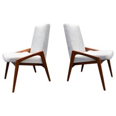 Pair of Danish Modern Chairs, Walnut, 1950s, Excellent Condition