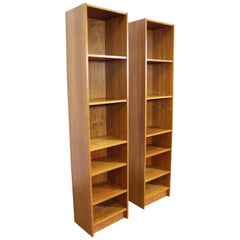Pair of Danish Modern Domino Mobler Teak Bookcases