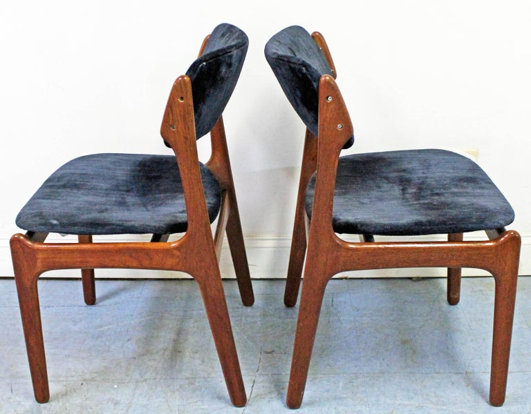 Scandinavian Modern Pair of Danish Modern Erik Buch for O.D. Møbler Teak Dining Chairs For Sale