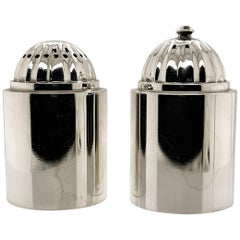 Pair of Danish Modern Georg Jensen Sterling Silver Salt and Pepper Shakers # 627