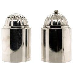 Pair of Danish Modern Georg Jensen Sterling Silver Salt and Pepper Shakers # 627