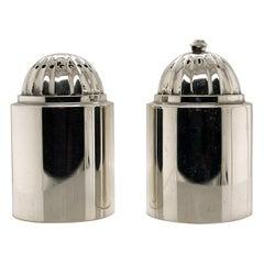 Pair of Danish Modern Georg Jensen Sterling Silver Salt & Pepper Shakers # 627