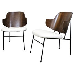 Pair of Danish Modern Ib Kofod Larsen Selig Penguin Chairs