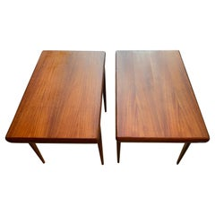 Pair of Danish Modern Johannes Andersen Teak Tables