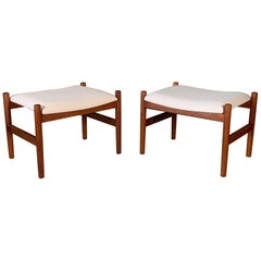Pair of Danish Modern Ottomans by Spottrup