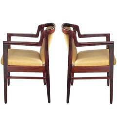 Pair of Danish Modern Rosewood Arm Chairs in the Manner of Kai Kristiansen