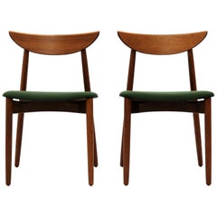 Pair of Danish Modern Side Chairs Model 58 in Teak by Harry Østergaard, 1950s