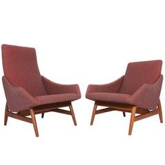 Pair of Danish Modern Stingray Midcentury Lounge Chairs
