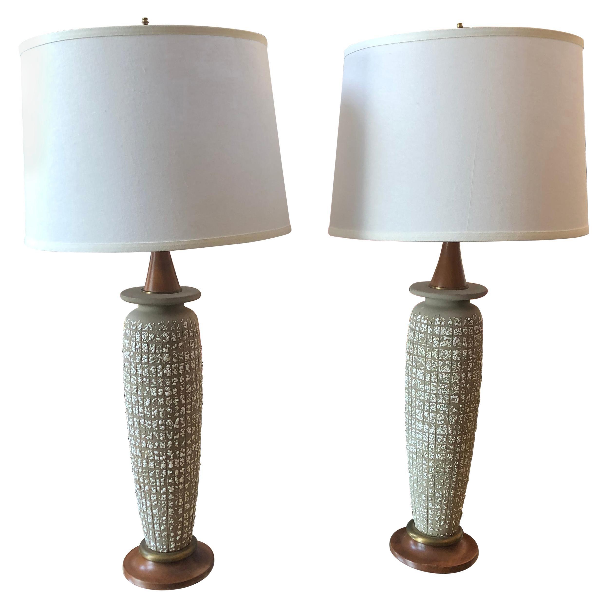 Pair of Danish Modern Table Lamps