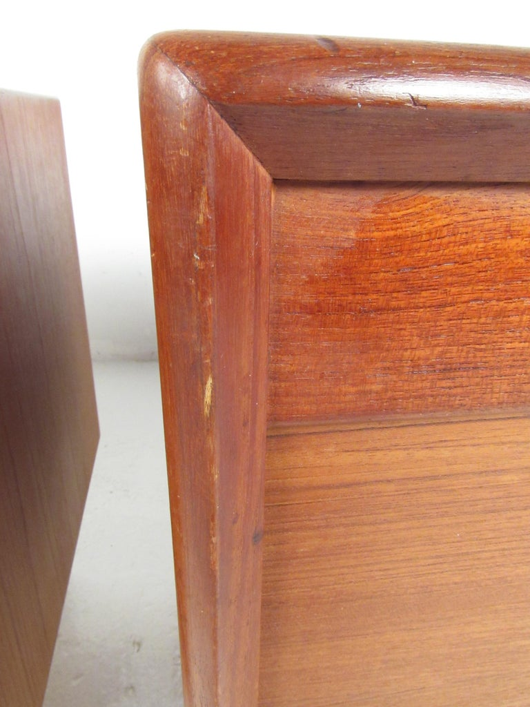 Pair of Danish Modern Tambour Nightstands by Falster For Sale 6