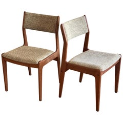 Pair of Danish Modern Teak Dining Chairs by D Scan