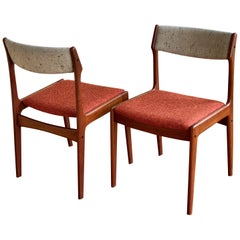Pair of Danish Modern Teak Dining Chairs by Erik Buch