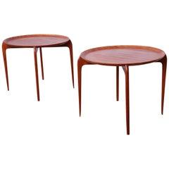 Pair of Danish Modern Teak Tray Tables by Moreddi