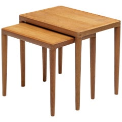 Pair of Danish Nesting Tables in Oak