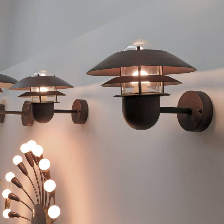 Pair of Danish Outdoor Wall Lights by Nordlux For Sale 4
