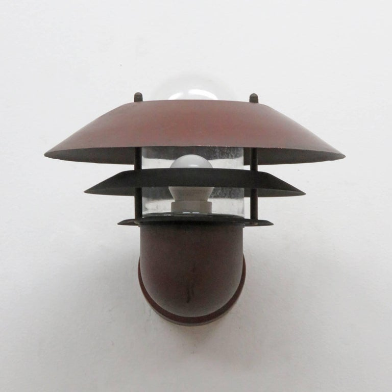 Scandinavian Modern Pair of Danish Outdoor Wall Lights by Nordlux For Sale