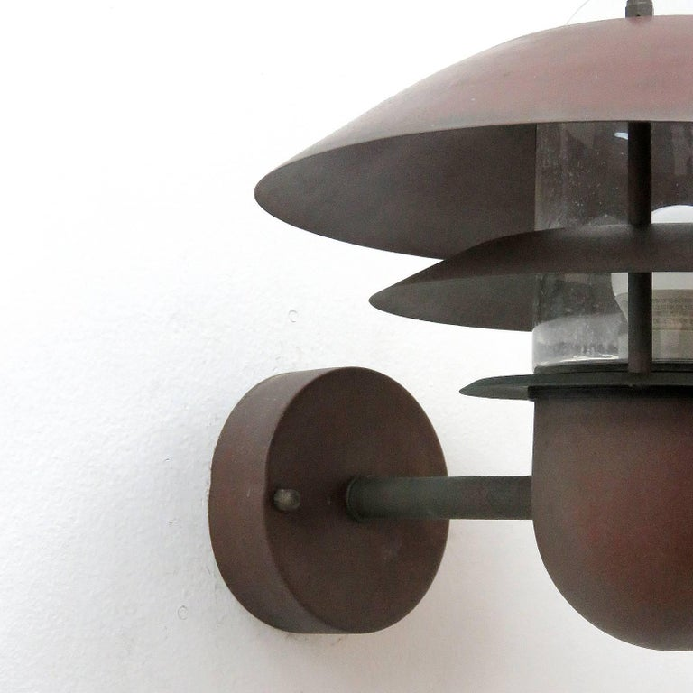 Mid-20th Century Pair of Danish Outdoor Wall Lights by Nordlux For Sale
