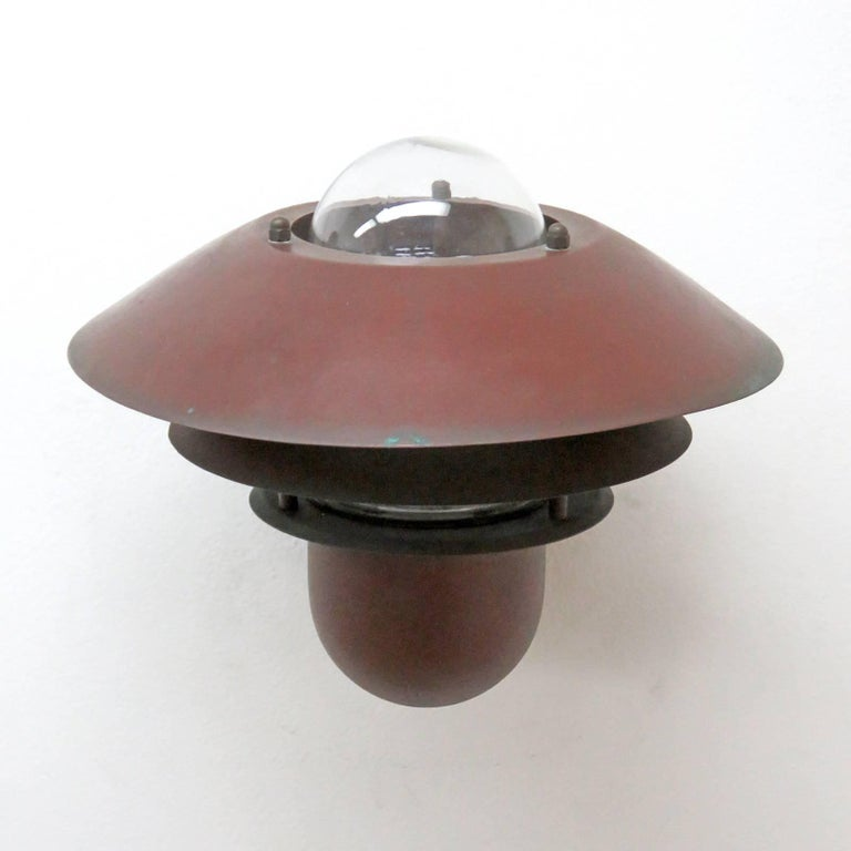 Copper Pair of Danish Outdoor Wall Lights by Nordlux For Sale