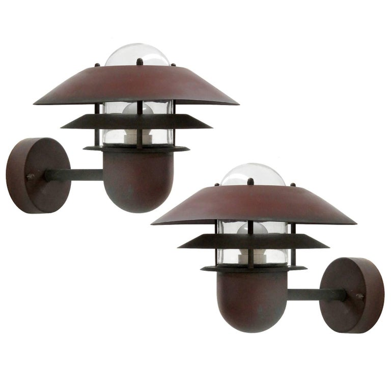Pair of Danish Outdoor Wall Lights by Nordlux For Sale