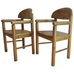 Pair of Danish Pine Carver Dining Chairs by Rainer Daumiller for Hirtshals 1970s