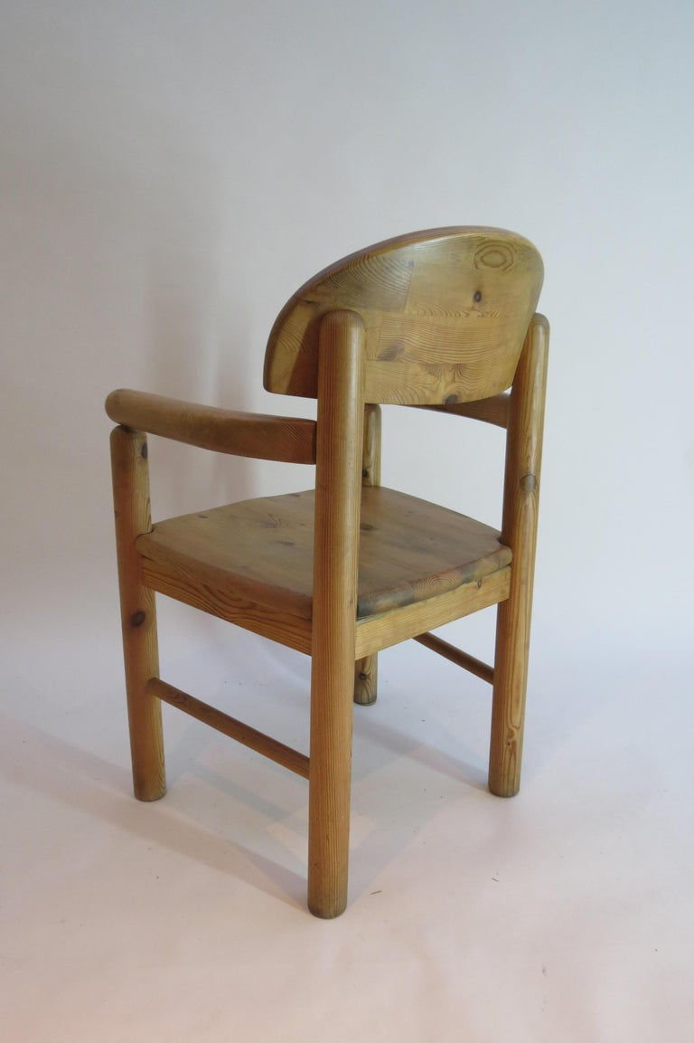 Pair of Danish Pine Carver Dining Chairs by Rainer Daumiller for Hirtshals For Sale 9