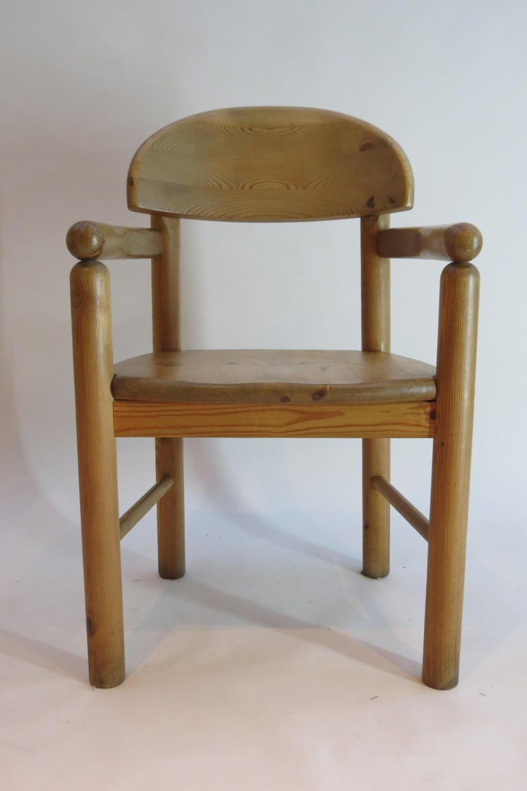 Late 20th Century Pair of Danish Pine Carver Dining Chairs by Rainer Daumiller for Hirtshals For Sale