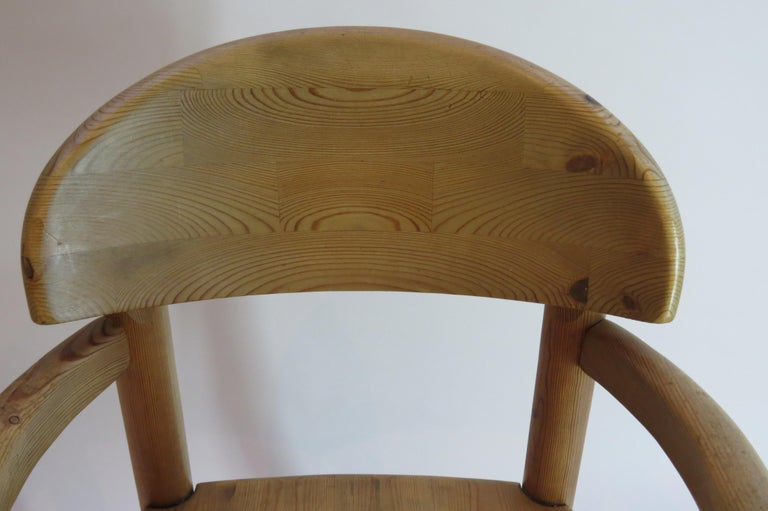 Pair of Danish Pine Carver Dining Chairs by Rainer Daumiller for Hirtshals For Sale 1