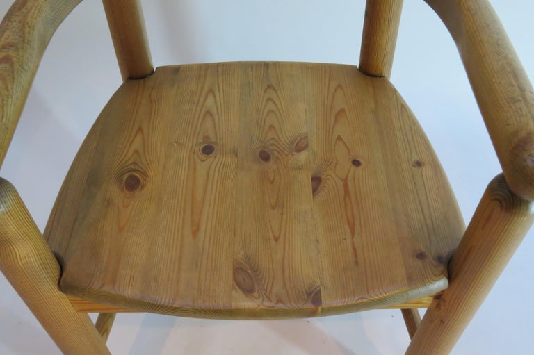 Pair of Danish Pine Carver Dining Chairs by Rainer Daumiller for Hirtshals For Sale 2