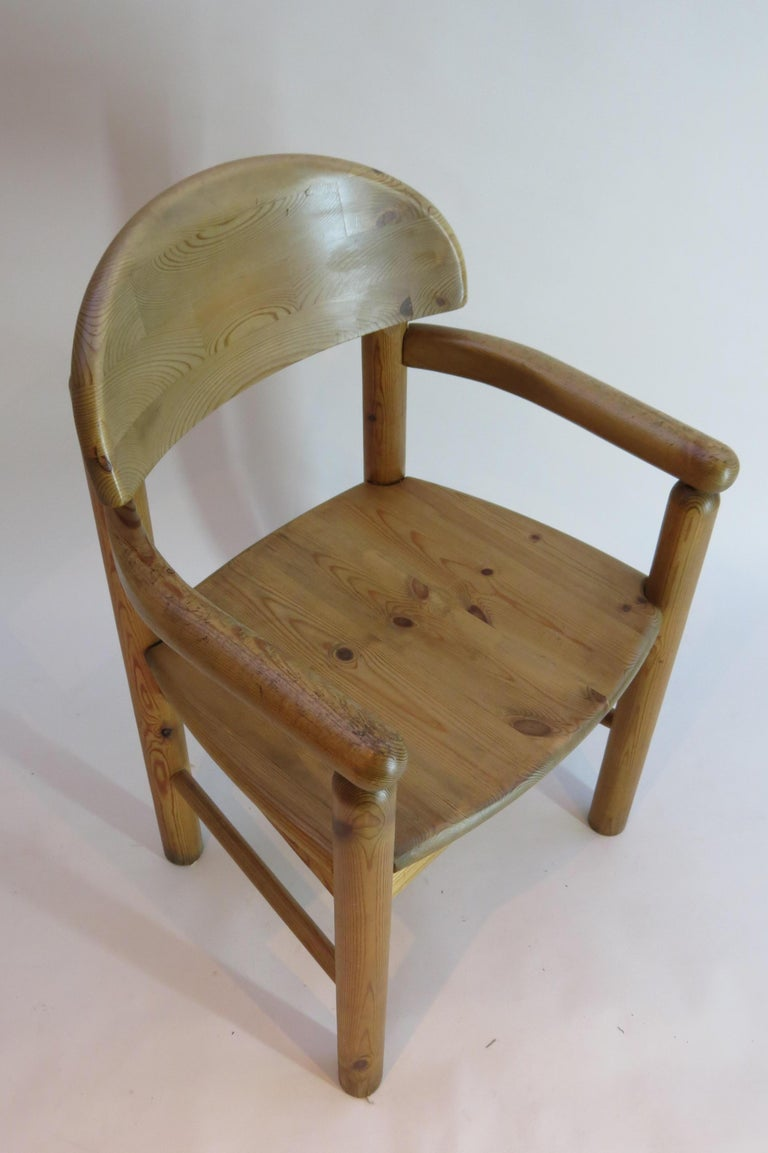 Pair of Danish Pine Carver Dining Chairs by Rainer Daumiller for Hirtshals For Sale 3