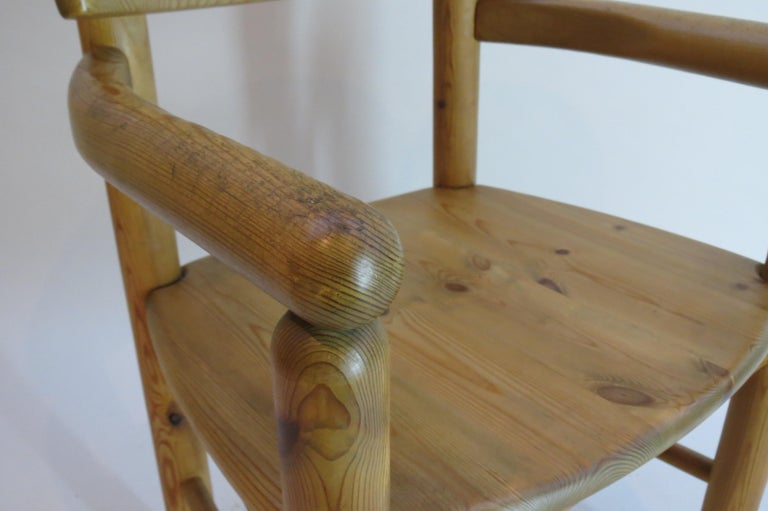 Pair of Danish Pine Carver Dining Chairs by Rainer Daumiller for Hirtshals For Sale 4