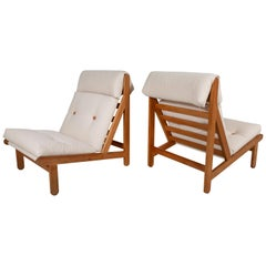 "Pair of Danish ""Rag"" Easy Lounge Chairs by Bernt Petersen"