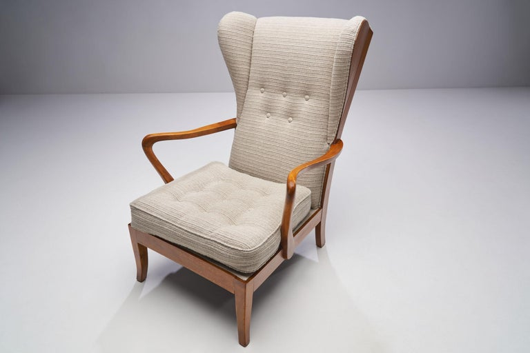 Pair of Danish Øreklapstolen Chairs, Denmark, 1950s For Sale 2