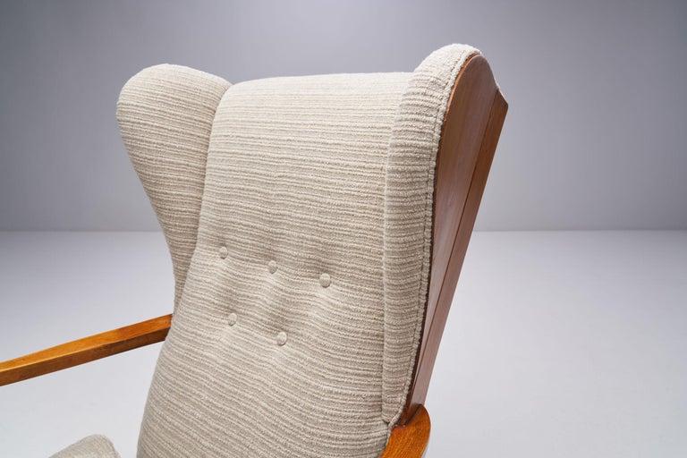 Pair of Danish Øreklapstolen Chairs, Denmark, 1950s For Sale 3