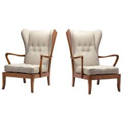 Pair of Danish Øreklapstolen Chairs, Denmark, 1950s