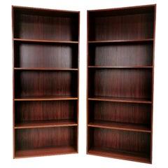 Pair of Danish Rosewood Bookcases 1970s Midcentury Vintage