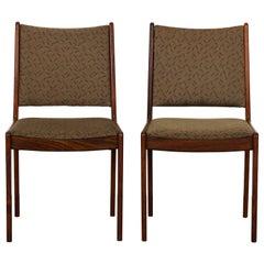 Pair of Danish Rosewood Chairs by Johannes Andersen for Uldum Mobelfabrik, 1960s