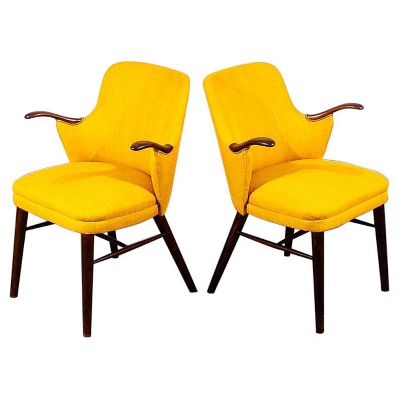 Pair of Danish Rosewood Midcentury Armchairs
