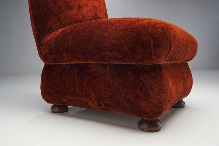 Pair of Danish Slipper Chairs, Denmark, 1930s For Sale 2