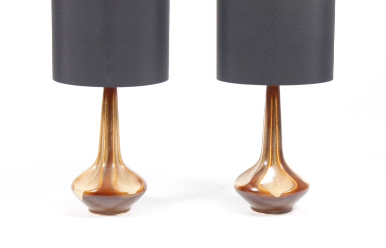 Pair of Danish Table Lamps In Excellent Condition For Sale In Lejre, DK