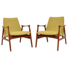 Pair of Danish Teak Armchairs by Arne Hovmand-Olsen for Mogens Kold