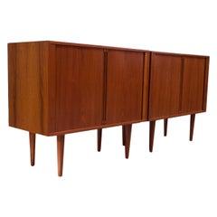 Pair of Danish Teak Cabinets by Kai Kristiansen for Feldballes Møbelfabrik