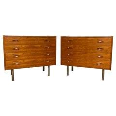 Pair of Danish Teak Dresser Cabinets, Circa 1960s