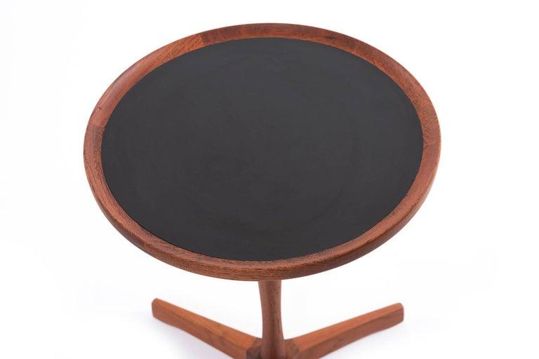 Mid-Century Modern Pair of Danish Teak Hans Andersen Pedestal Tables For Sale