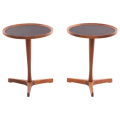 Pair of Danish Teak Hans Andersen Pedestal Tables