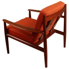 Pair of Danish Teak Lounge Chairs by Grete Jalk for France & Son