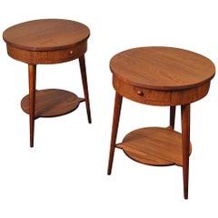 Pair of Danish Teak Nightstands End Tables