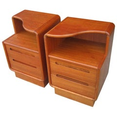 Pair of Danish Teak Nightstands