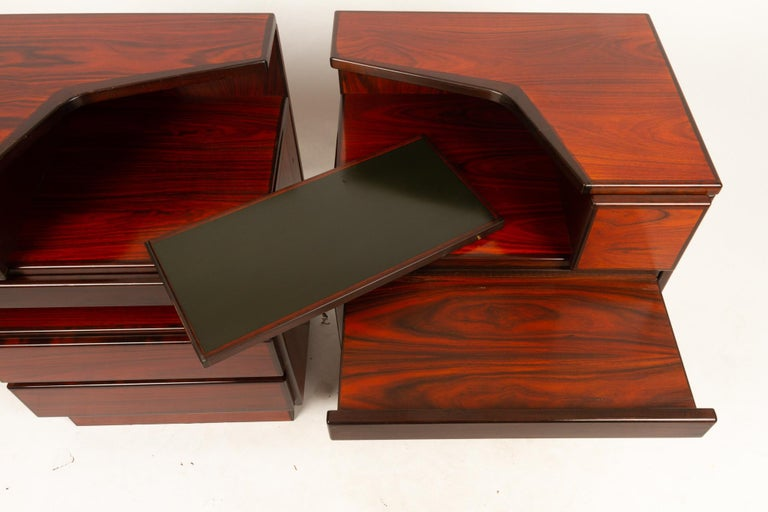 Pair of Danish Vintage Rosewood Nightstands, 1970s For Sale 5